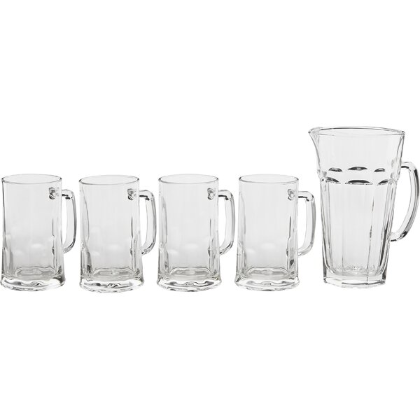 Barware 5 Piece Beer Mug Set by Circle Glass