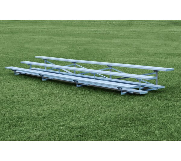 3 Row Aluminum Bleachers Bench by Highland Products