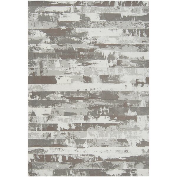 Chamlee Dark Brown/White Area Rug by 17 Stories