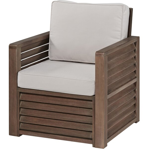 Eddie Patio Chair with Cushions by Longshore Tides