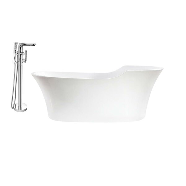 68 x 32 Freestanding Soaking Bathtub by Streamline Bath