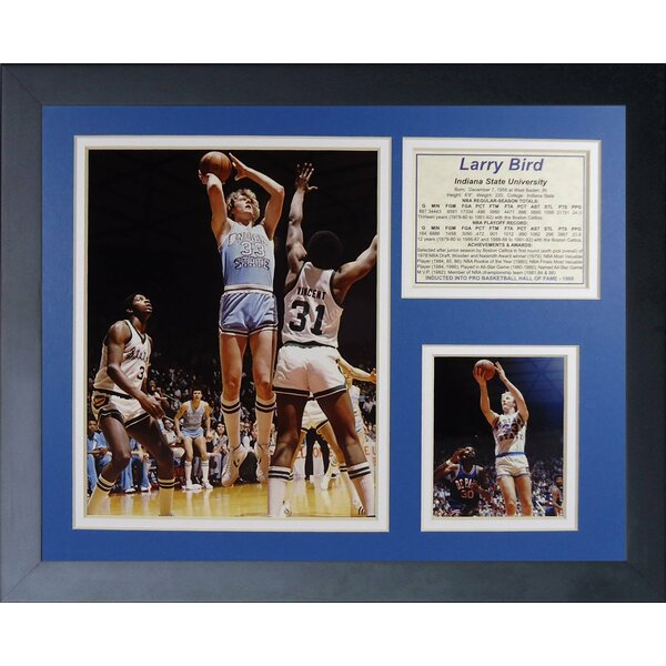 Larry Bird - Indiana Framed Memorabilia by Legends Never Die