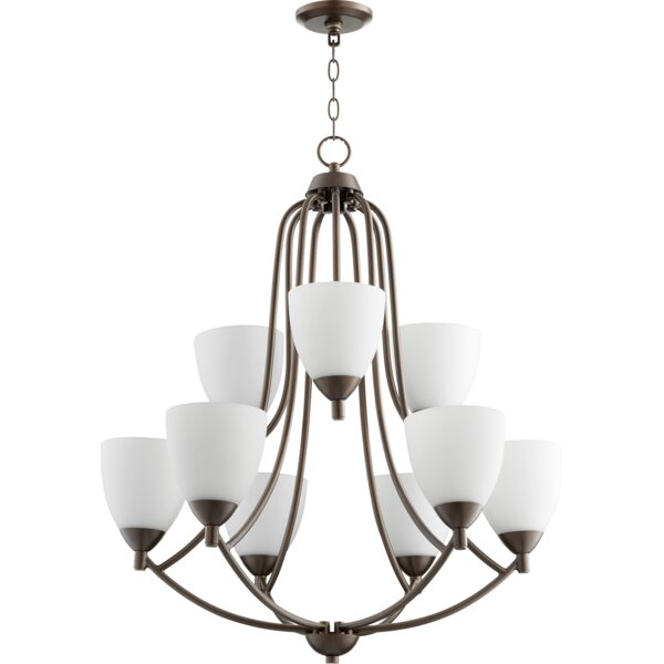 Brophy 9 - Light Shaded Empire Chandelier By Fleur De Lis Living
