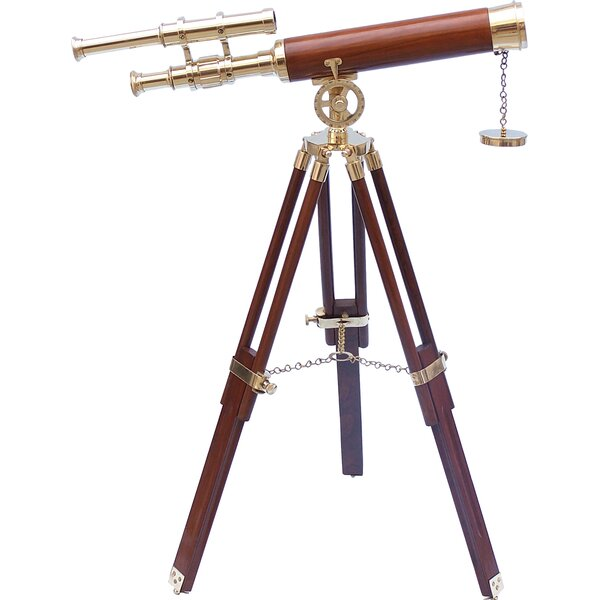 Harbor Master Decorative Telescope by Handcrafted Nautical Decor
