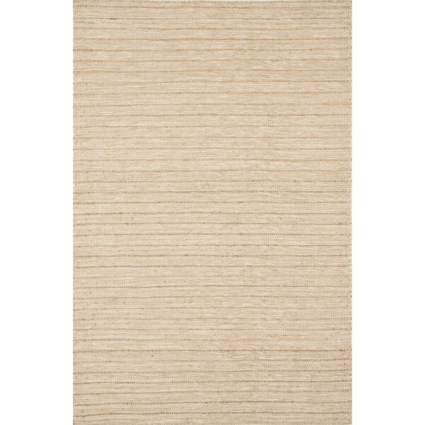 Ginnie Hand-Woven Flatweave Natural Area Rug by Highland Dunes
