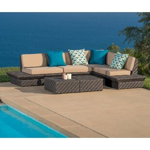 Tony 5 Piece Sunbrella Sectional Set with Cushions By Brayden Studio