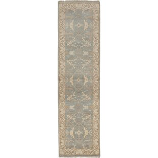 One-of-a-Kind Hales Hand-Knotted Runner 2'6 x 9'9 Wool Gray Area Rug by World Menagerie