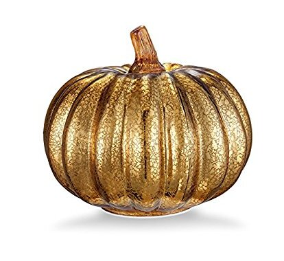Mercury Glass LED Pumpkin Lights by August Grove