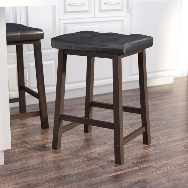 Dufton 24 Saddle Seat Bar Stool by Andover Mills