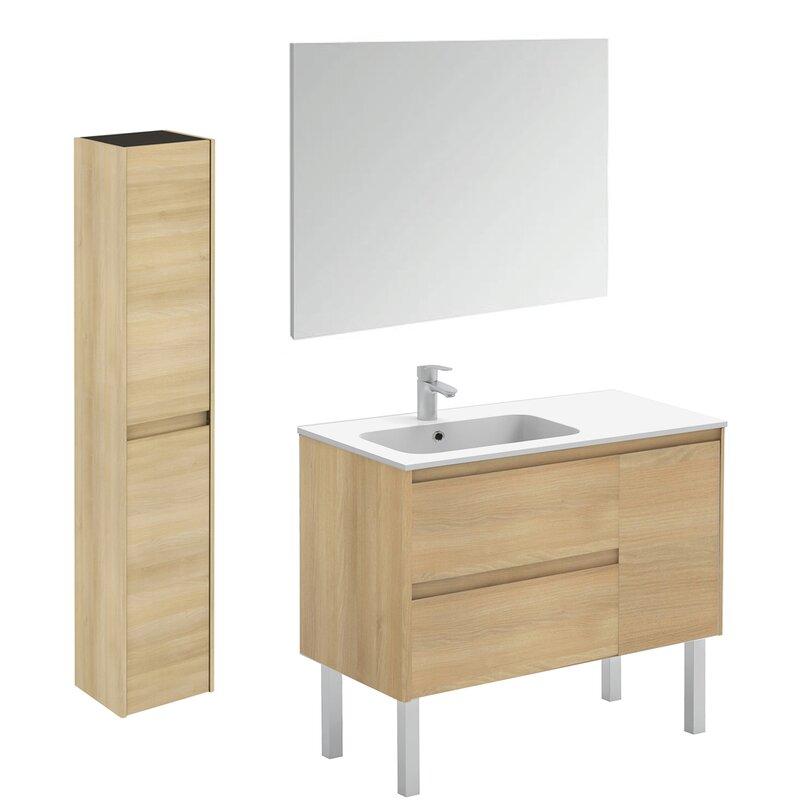 """WS Bath Collections Ambra 36"""" Single Bathroom Vanity Set ..."""