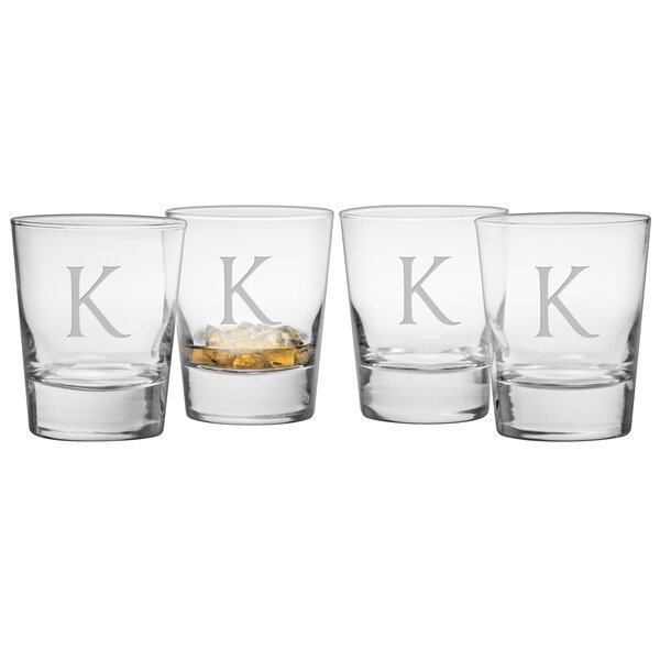 Monogram Double Old Fashioned Glass (Set of 4) by Susquehanna Glass