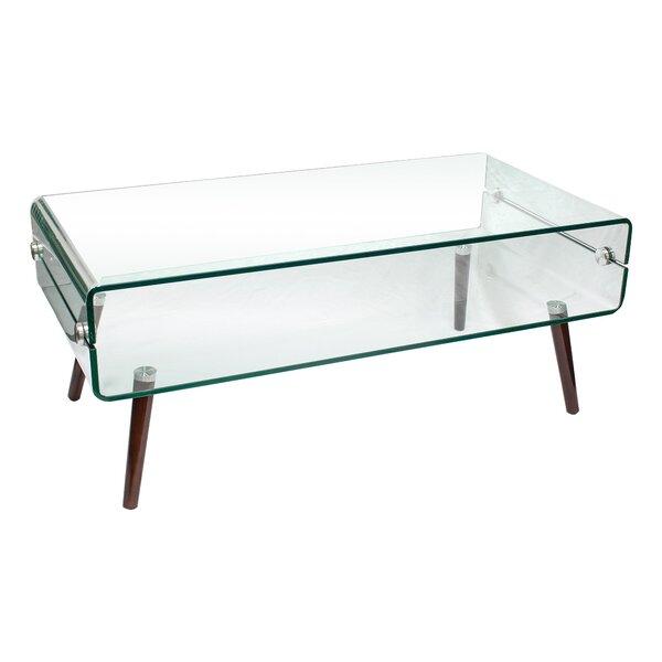 Sylvia Glass Coffee Table by Corrigan Studio