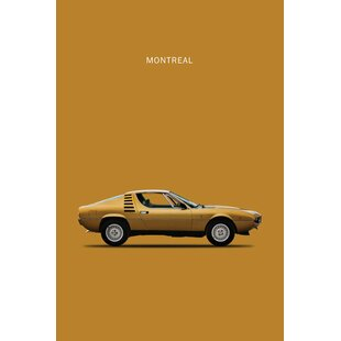 1972 Alfa Romeo Montreal' Graphic Art Print on Canvas by East Urban Home
