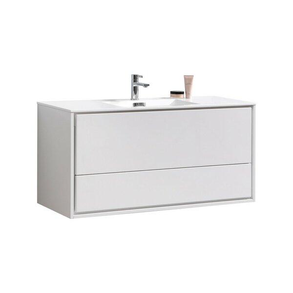 Trieu 47 Wall-Mounted Single Bathroom Vanity Set by Orren Ellis