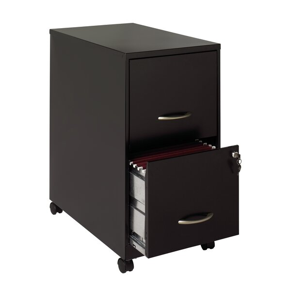 2 Drawer Soho Mobile Pedestal File by Hirsh Industries