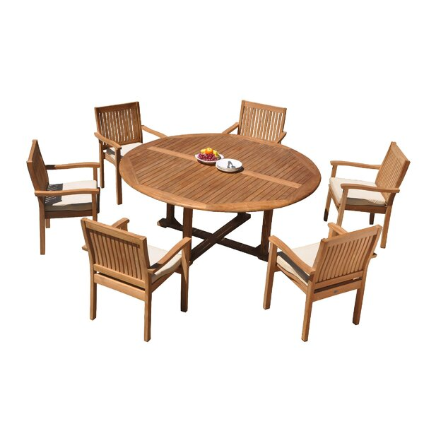 Mashburn 7 Piece Teak Dining Set