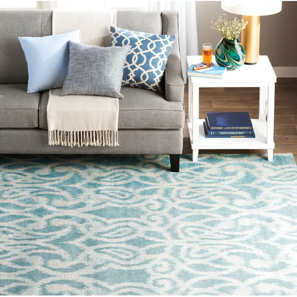 Hodgins Teal Area Rug by Threadbind
