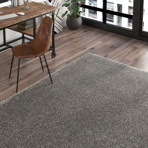 Red Hills Solid Gray Area Rug by Trent Austin Design