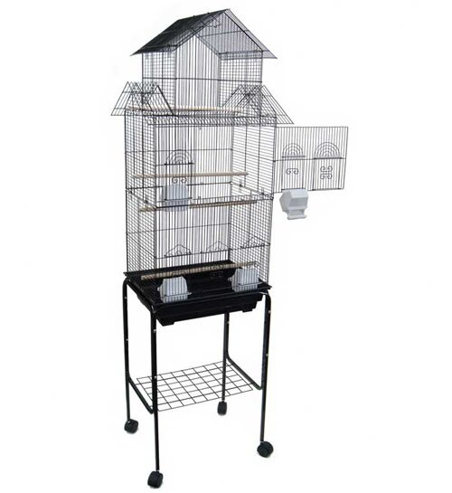 Hoffman Pagoda Top Small Bird Cage with Stand by T