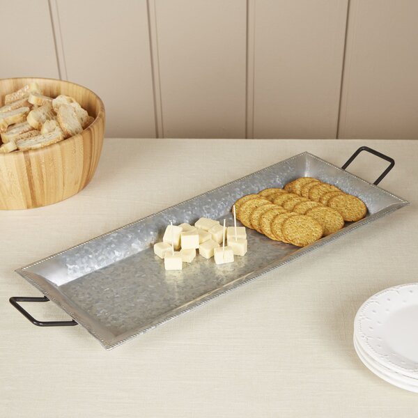 Bayard Galvanized Iron Tray by Birch Lane™