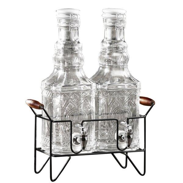 Fynn Double 2 Piece Beverage Dispenser Set by Gracie Oaks