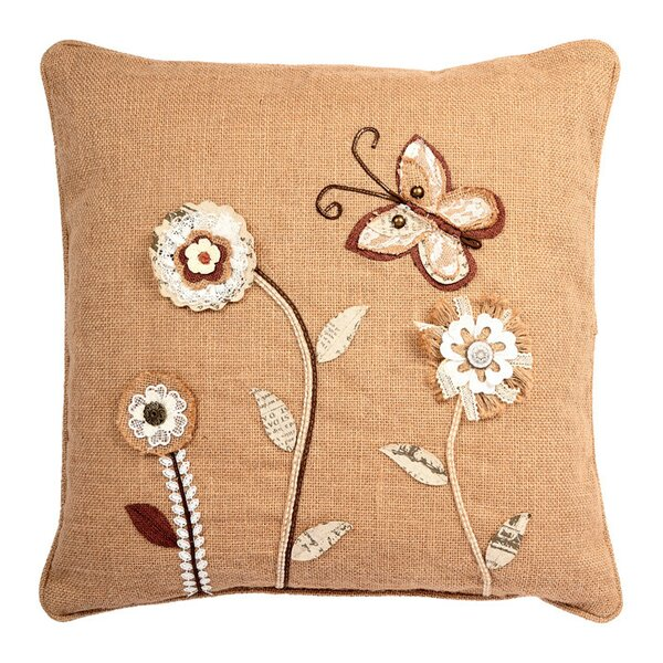 Ambler Garden Theme Embroidery Indoor Throw Pillow by August Grove