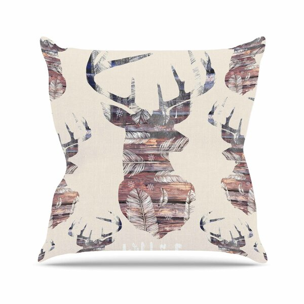 Suzanne Carter Wild & Free 2 Outdoor Throw Pillow by East Urban Home