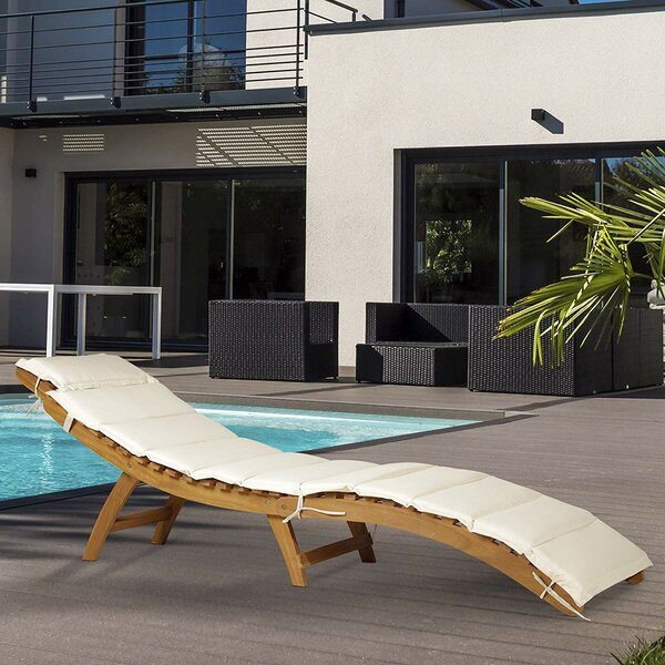 Macpherson Outdoor Reclining Chaise Lounge by Highland Dunes