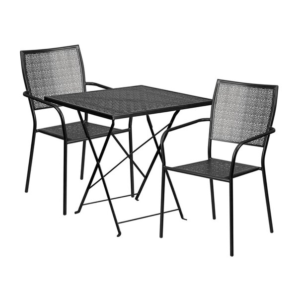 Speight Outdoor Steel 3 Piece Dining Set by Winston Porter