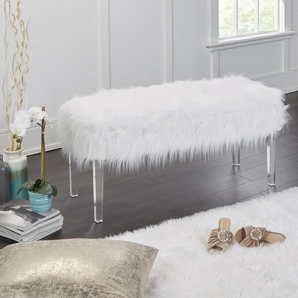 Linwood Fur Storage Bench by Everly Quinn