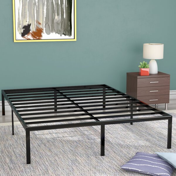 Classic Metal Platform Bed Frame by Alwyn Home
