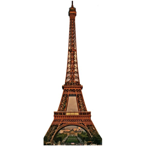 Eiffel Tower Cardboard Stand Up by Advanced Graphics