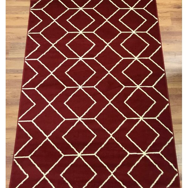 Abdo Kashan King Red Area Rug by Wrought Studio