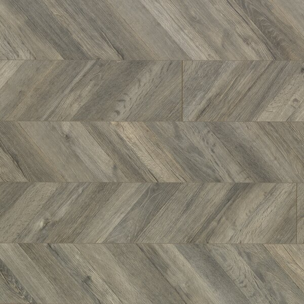 Reclaime 7.5 x 54.34 x 12 mm Gris Laminate Flooring in Parusian Chevron by Quick-Step
