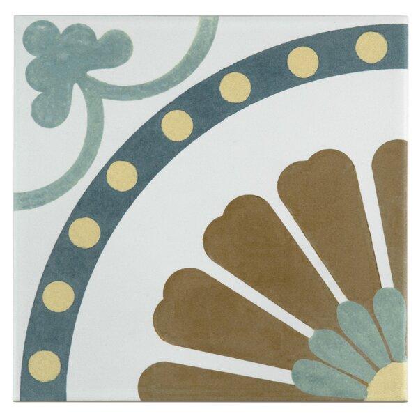 Revive 7.75 x 7.75 Ceramic Field Tile in Blue/Brown by EliteTile