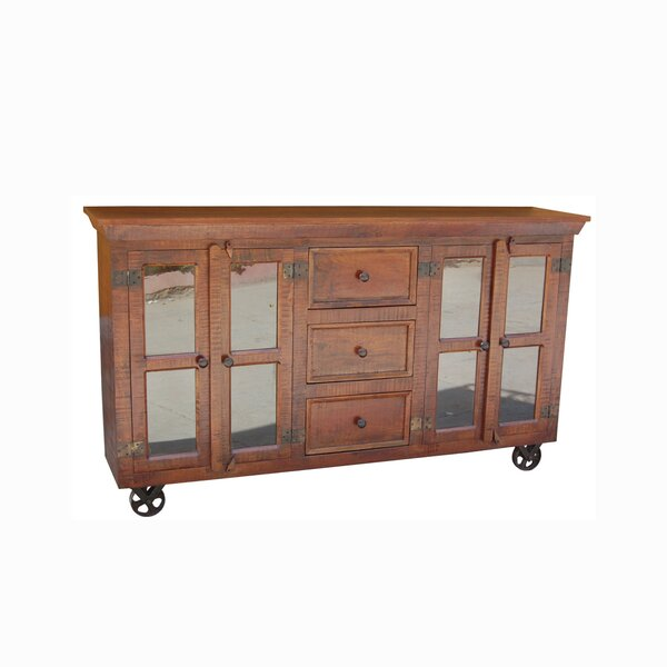Storage / Display 4 Door Accent Cabinet by Yosemite Home Decor