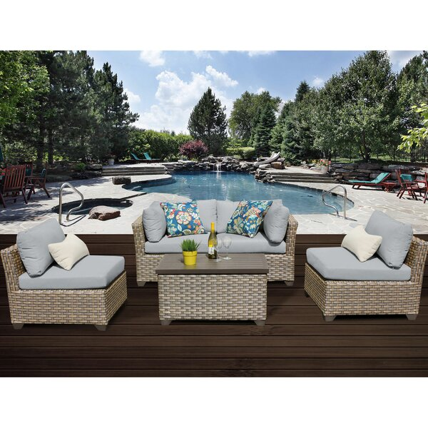 Rochford 5 Piece Sofa Seating Group with Cushions by Sol 72 Outdoor