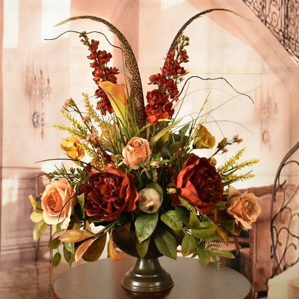 Mixed Centerpiece in Decorative Vase by Darby Home