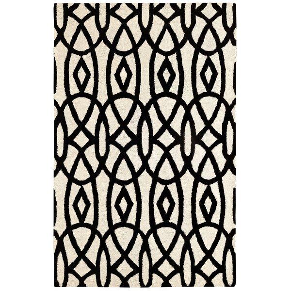 Rentz Ivory/Black Area Rug by Brayden Studio