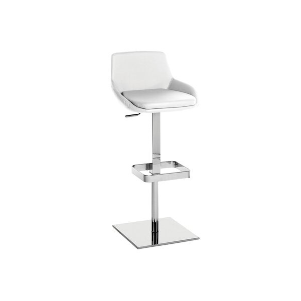 Laura Adjustable Height Swivel Bar Stool by Casabianca Furniture