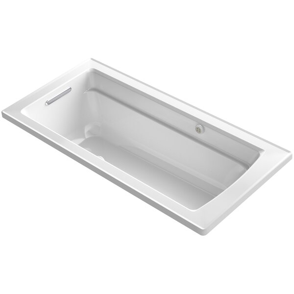 Archer Drop-in Bubblemassage Air Bath with Bask Heated Surface and Reversible Drain by Kohler