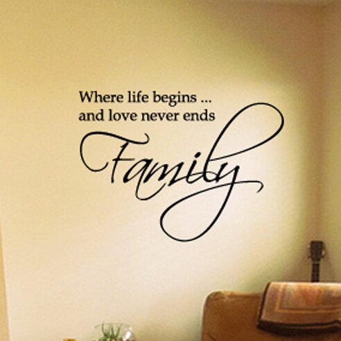 Fox Hill Trading Family Where Life Begins and Love Never Ends Vinyl ...