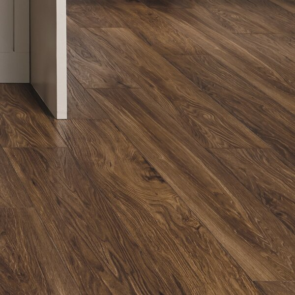 Restoration Wide Plank 8'' x 51'' x 12mm Laminate Flooring in Fire by Mannington