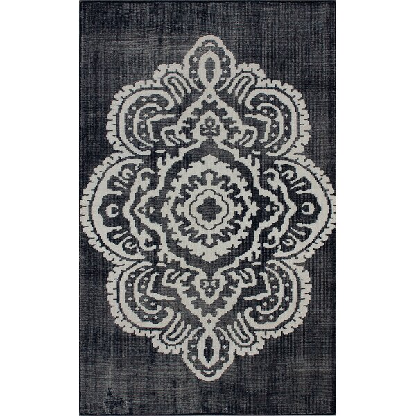 Overdye Hand-Knotted Wool Navy Area Rug by nuLOOM