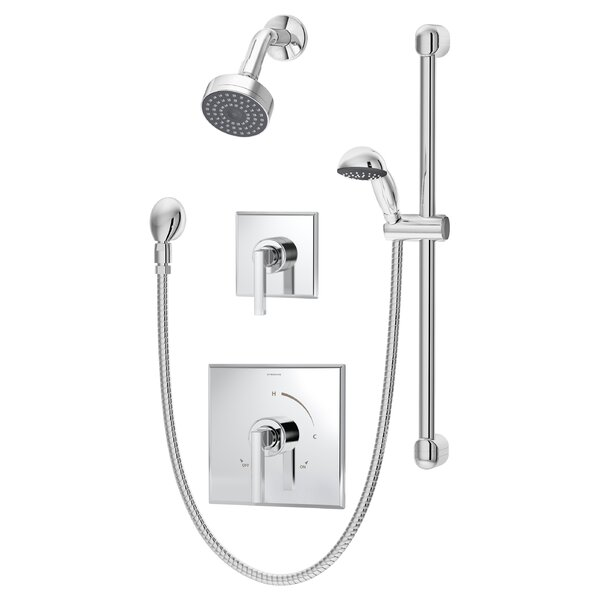 Duro Shower/Hand Shower System with Lever Handle by Symmons