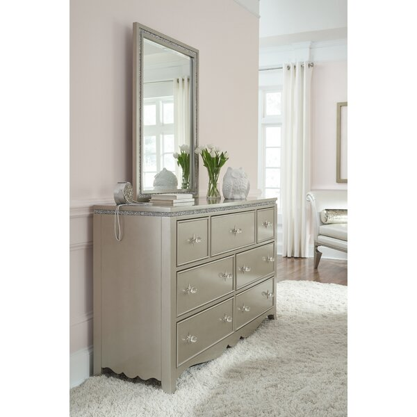 Burchfield 7 Drawer Dresser with Mirror by House of Hampton