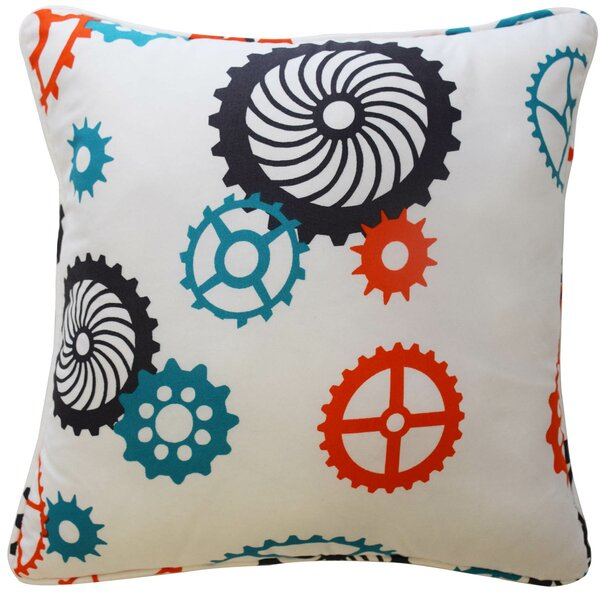 Robotic Polyester Throw Pillow by Waverly