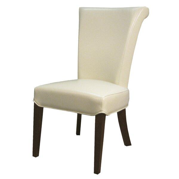 Lehner Genuine Upholstered Dining Chair (Set of 2) by Alcott Hill