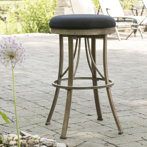Daugherty 30 Swivel Indoor/Outdoor Patio Bar Stool by Darby Home Co
