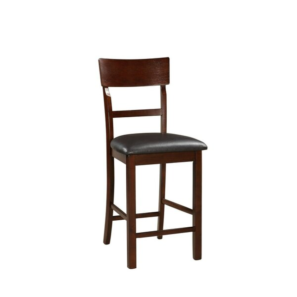 Hoelscher Wooden 24 Bar Stool (Set of 2) by Charlton Home
